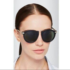 Karen Walker Super Lunar Black Gold Sunglasses